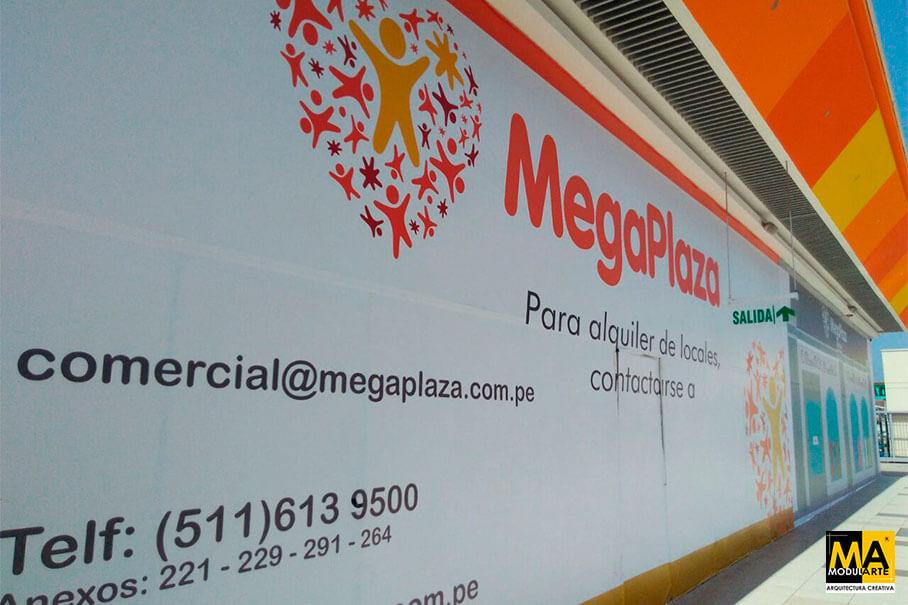 Cerramiento publicitario MegaPlaza