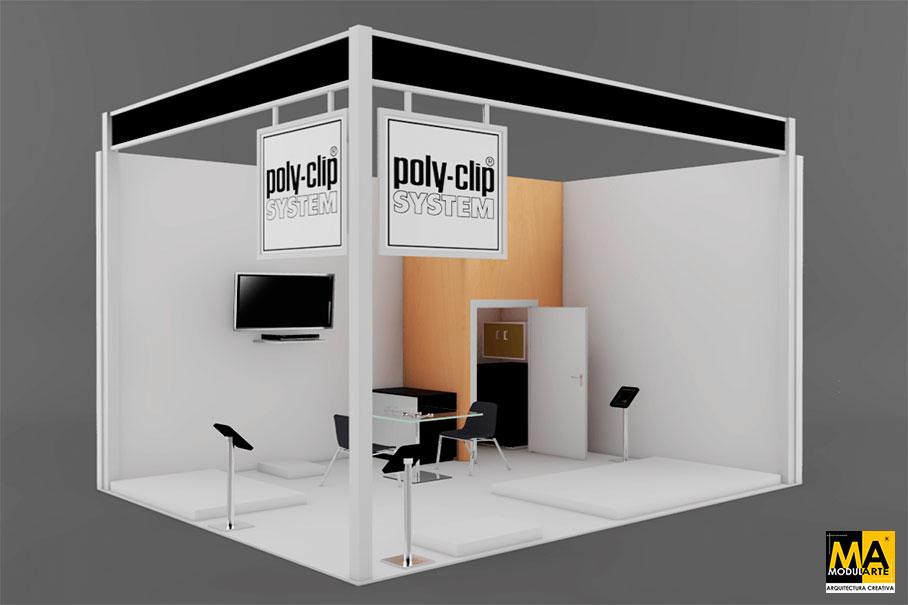 Diseño de Stand Poly Clip