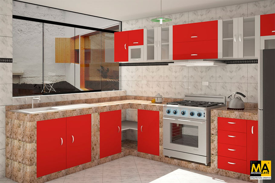 Modularte arquitectura creativa for Proyectos de cocina