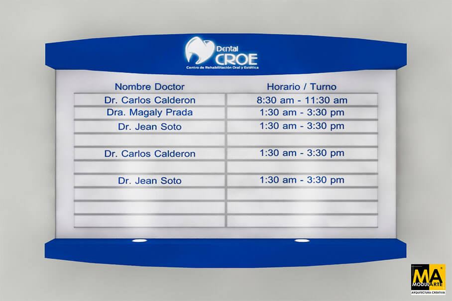 Señalética Clinica Dental CROE