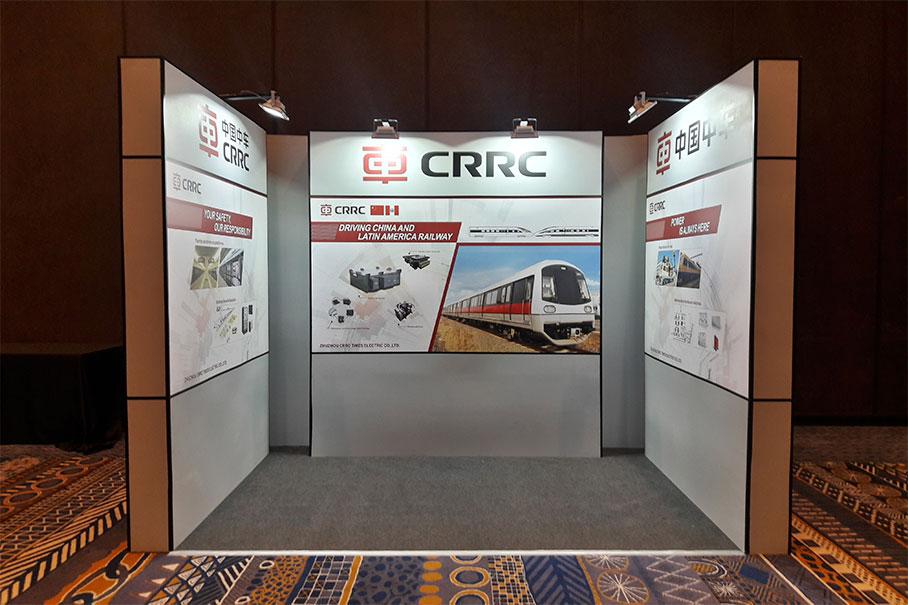 Stand CRRC Feria Metro Latam 2017