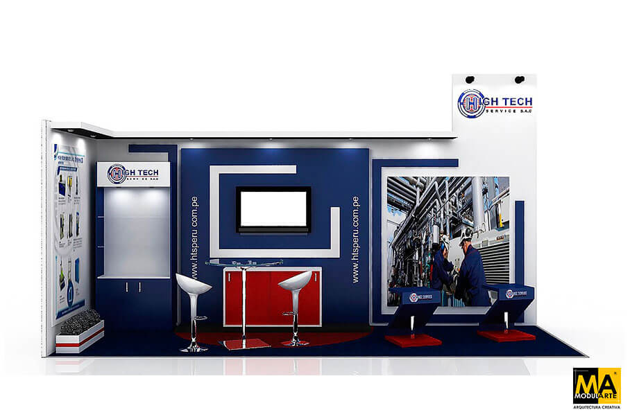 High Tech Stand Expomina Fair 2016