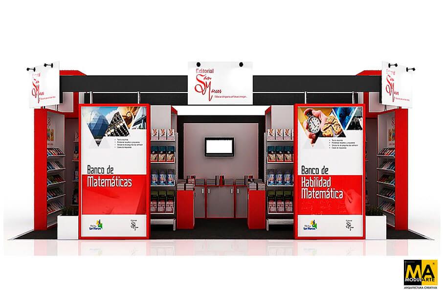 Stand Feria Internacional del Libro Editorial San Marcos