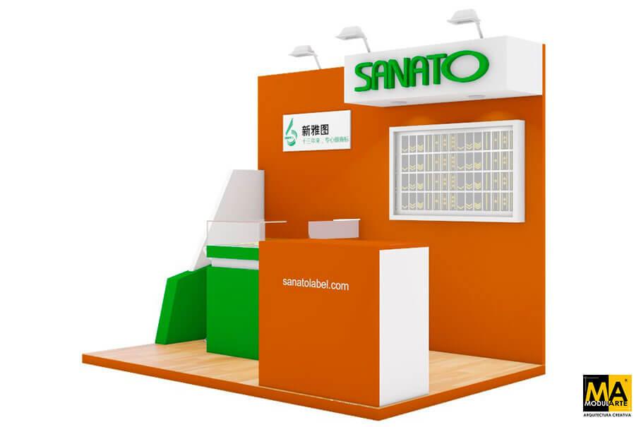 Stand para Feria SANATO Label China